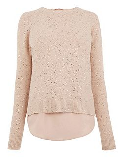 Petal Back Sequin Top