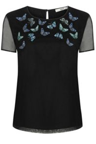 Oasis Trickle Butterfly Mesh Top