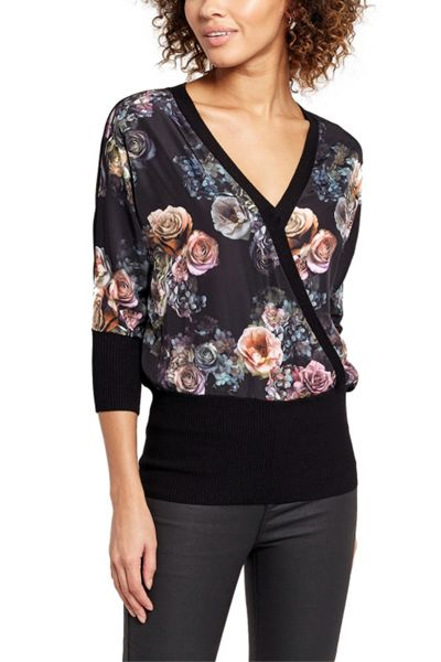 Oasis Gothic Bloom Wrapfront Knit