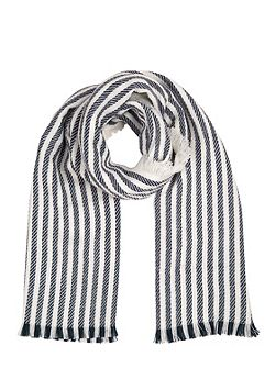 Stripe Navy Scarf