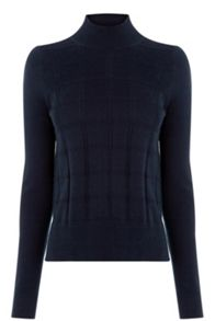 Oasis Check Funnel Neck Jumper