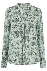 Oasis Rosie Bird Piped Shirt