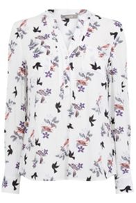 Oasis Bird Bouquet Print Shirt