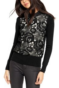 Oasis Lace Front Collared Top