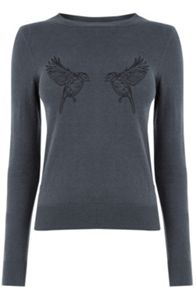 Oasis Embroidered Bird Jumper