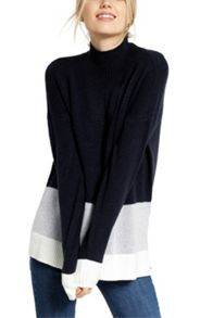 Oasis Colourblock Funnel Neck Knit