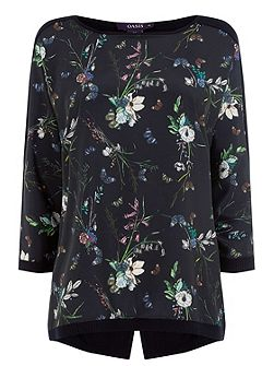 Floral Butterfly Woven Front