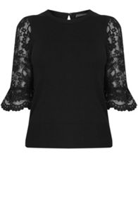 Oasis Lace Fluted Sleeve Knit