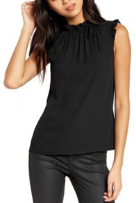 Oasis Ruffle Neck Tie Top