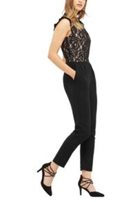 Oasis Ruffle Neck Lace Jumpsuit