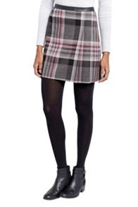 Oasis Soft Check Poppy Kilt