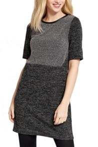 Oasis Tweed Patched Shift Dress