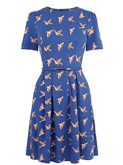 Country Bird Skater Dress