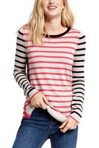 Oasis Double Stripe Button Knit