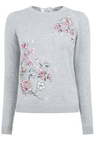 Oasis Embroidered Lotus Knit