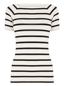 Stripe Square Neck Tee