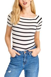 Oasis Stripe Square Neck Tee