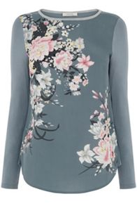 Oasis Lotus Embroidered Top