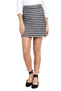 Oasis Cutabout Stripe Poppy Skirt