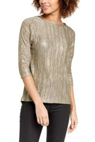 Oasis Marl Foil Drop Sleeve