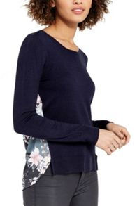 Oasis Lotus Knot Back Printed Knit