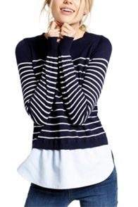 Oasis Stripe Chambray Knit