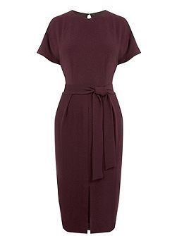 Belted Wiggle Dress