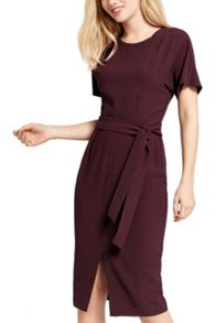 Oasis Belted Wiggle Dress