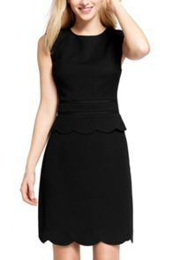 Oasis Scallop Peplum Dress