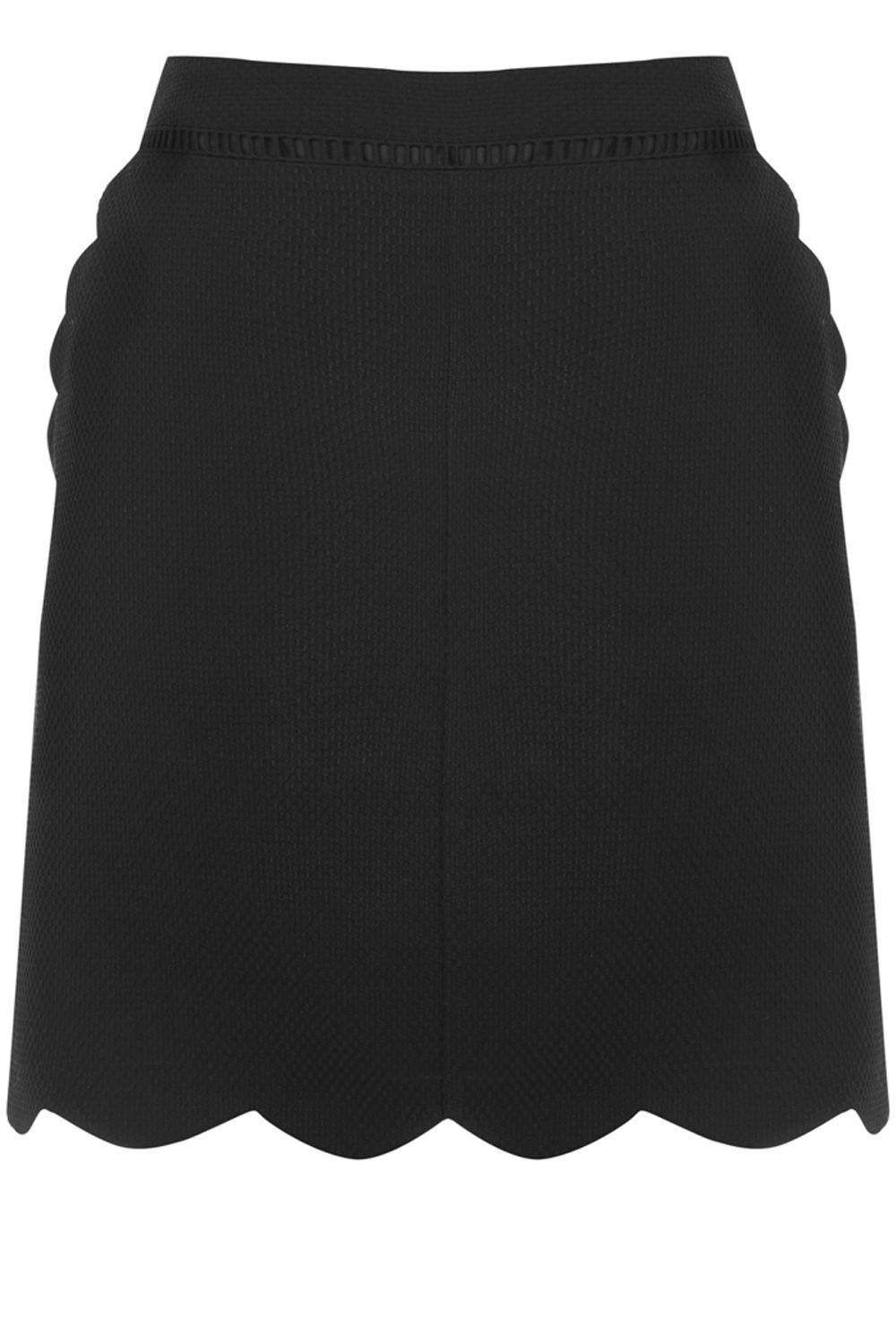 Oasis Scallop Skirt, Black
