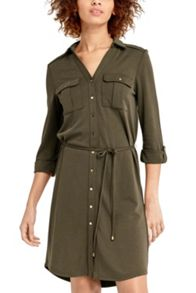 Oasis Textured Shirt Dress