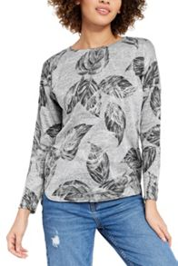 Oasis Feather Foil Drop Sleeve Sweat