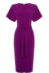 Oasis Drape Belted Wiggle Dress