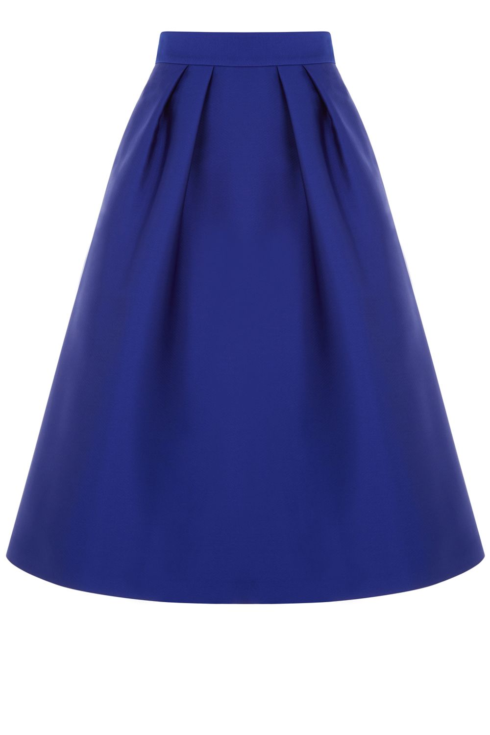 Oasis Satin Twill Midi Skirt, Blue
