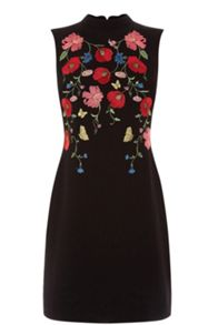 Oasis Poppy Embroidered Shift Dress