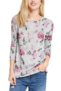 Oasis Printed Rose Sweat