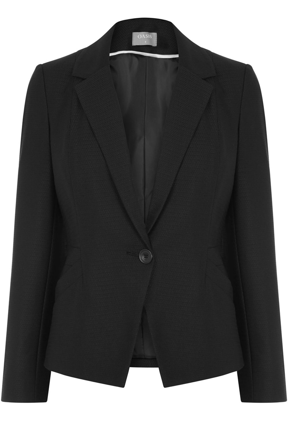 Oasis Hannah Workwear Jacket, Black
