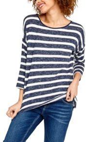 Oasis Stripe Warmwear Drop Sleeve