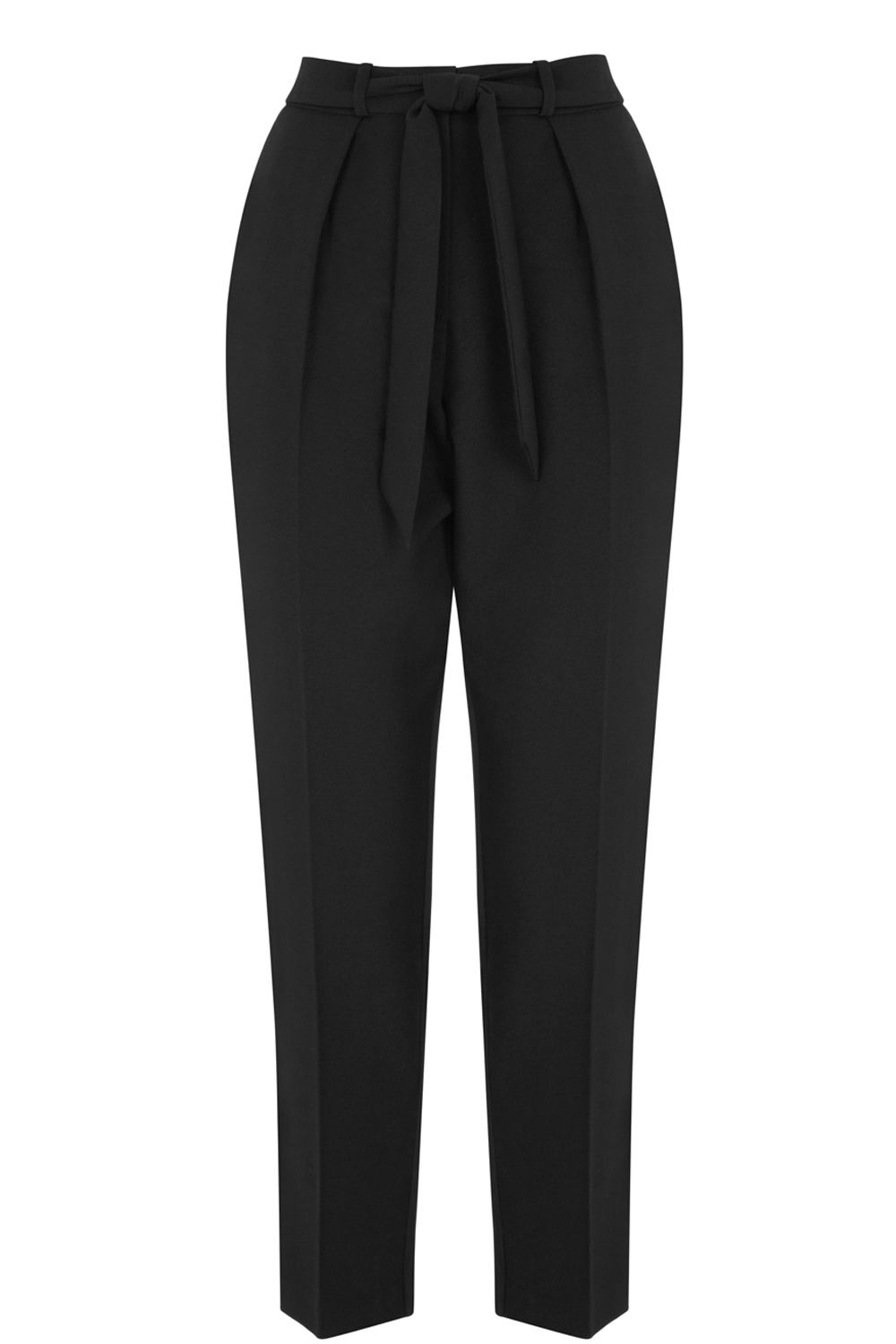 Oasis Tapered Leg Trouser, Black