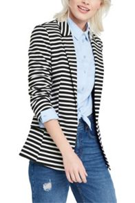 Oasis Stripe Ponte Jacket