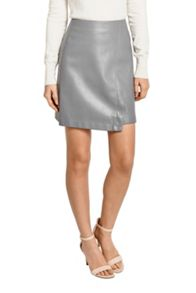 Oasis Faux Leather Wrap Skirt