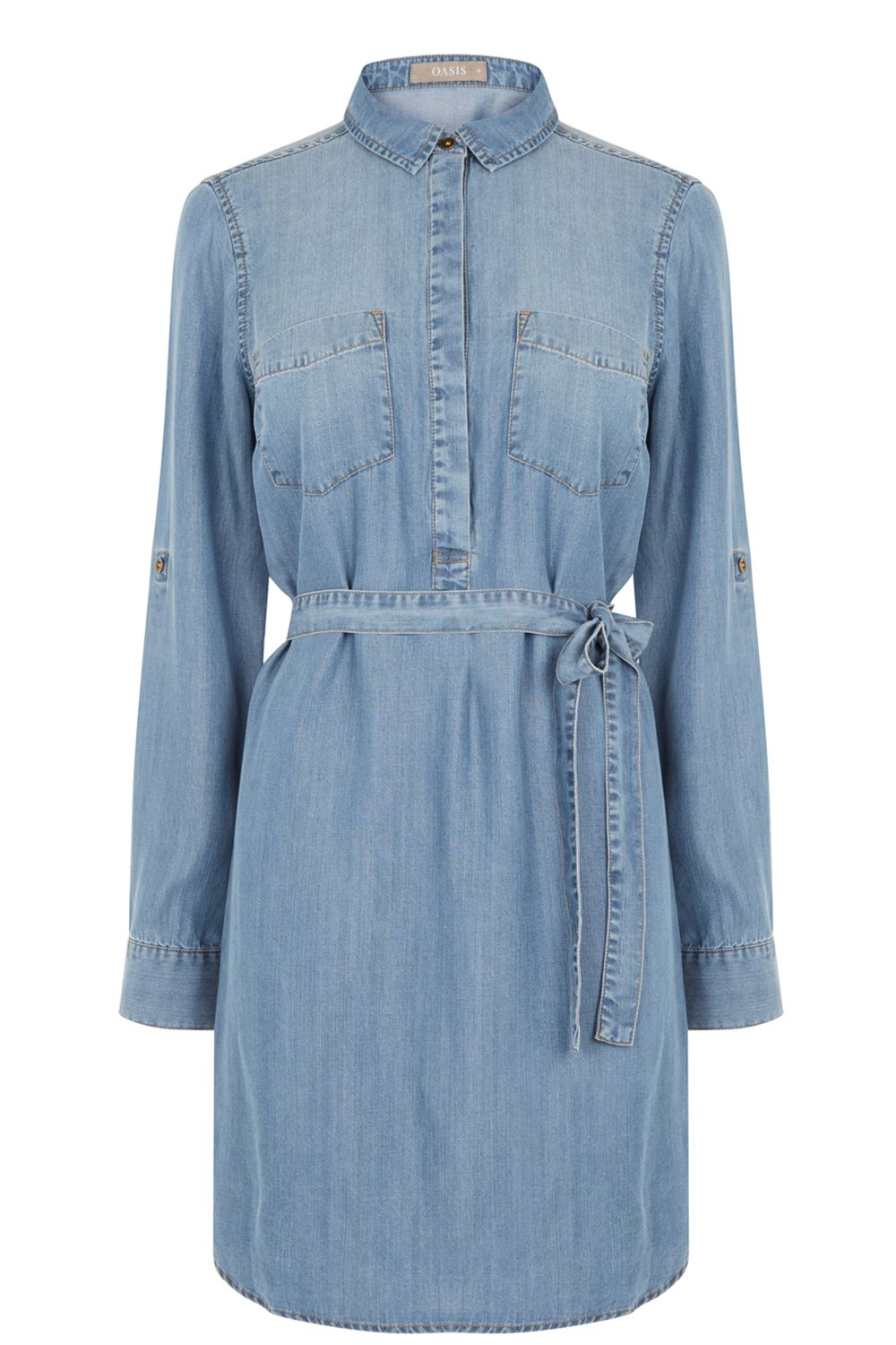 Oasis Libby Shirt Dress, Denim
