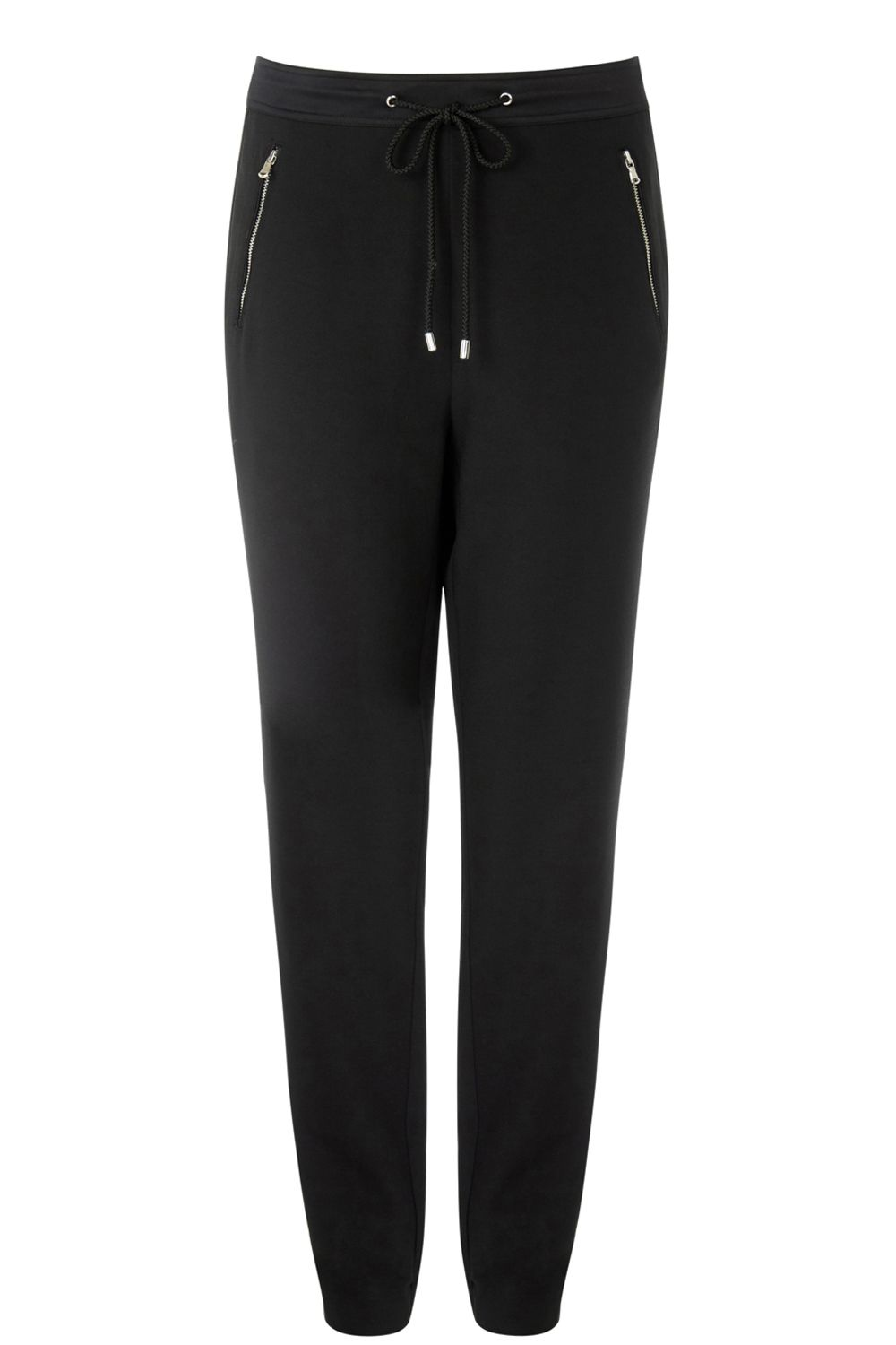Oasis Zip Detail Cuff Trouser, Black