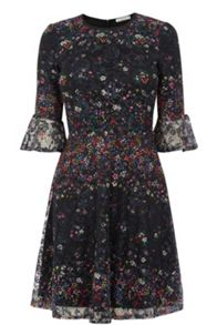 Oasis Fading Daisy Lace Print Dress
