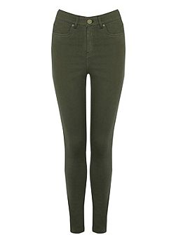 Khaki Coloured Lily Jeans