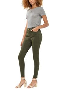 Oasis Khaki Coloured Lily Jeans