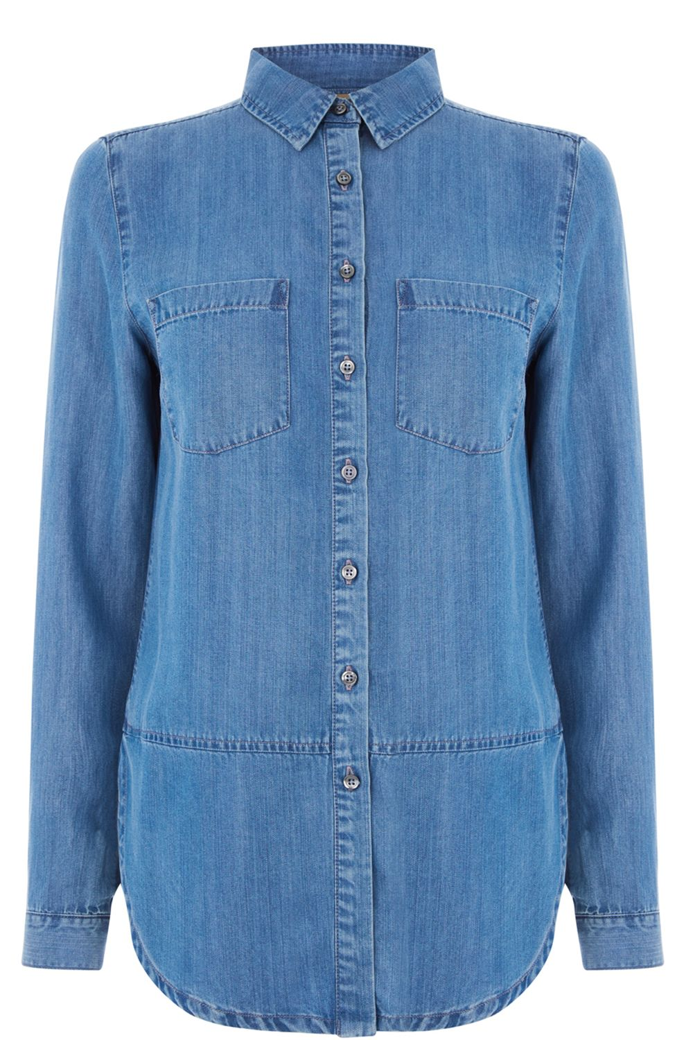 Oasis Georgie Denim Shirt, Denim