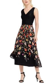Oasis Spring Bodice Lace Midi Dress