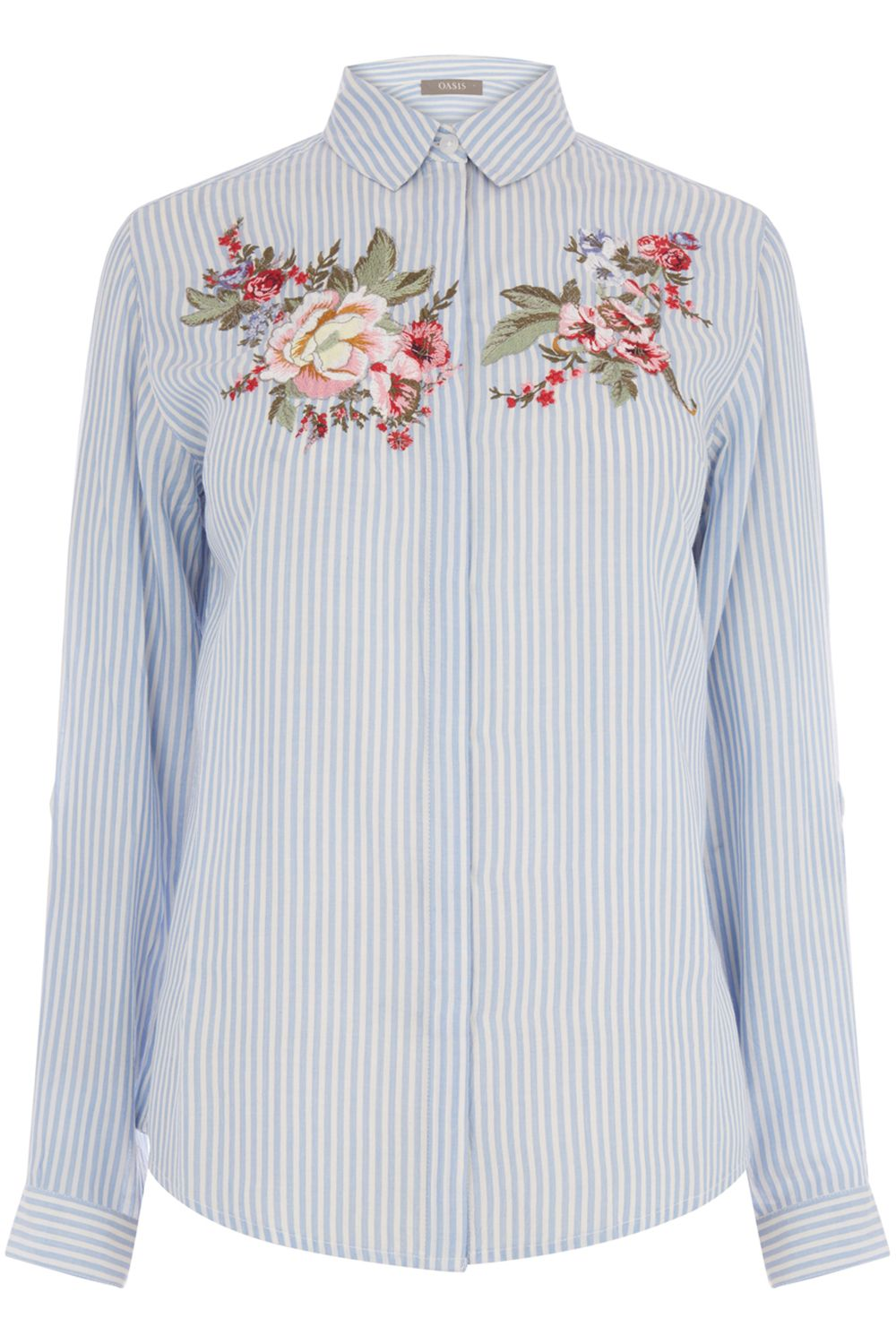 Oasis Chintz Embroidered Shirt, Multi-Coloured