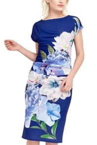 Oasis Statement Floral Drape Dress